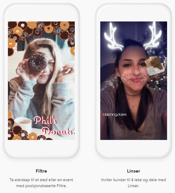 linser og filtre snapchat