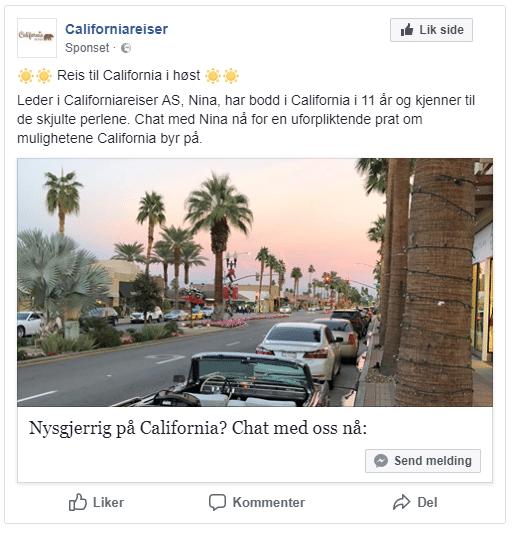 Facebook markedsføring eksempel