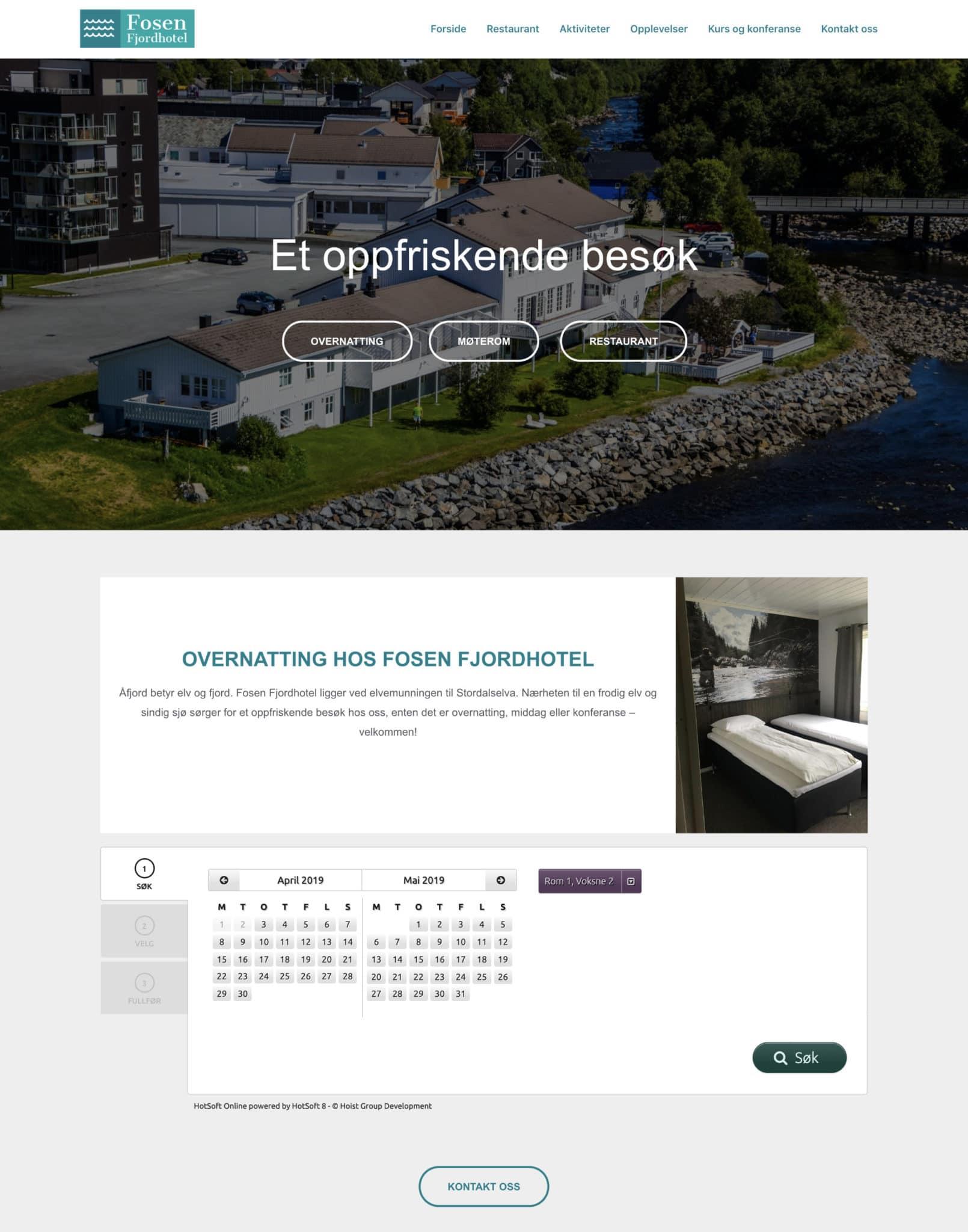 fosen fjordhotel nettside eksempel