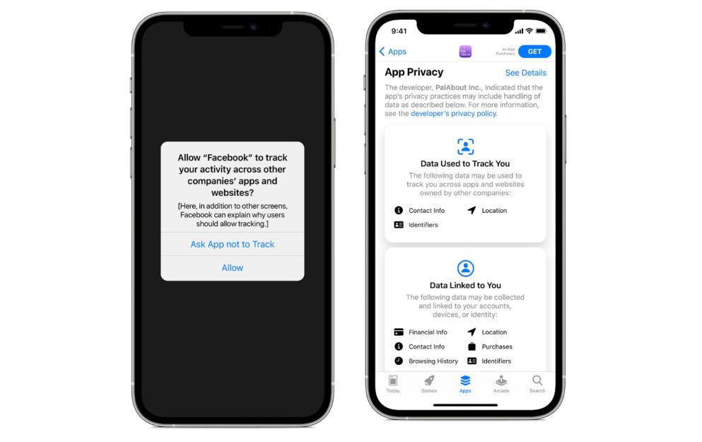 Apper må be deg om din tillatelse før de kan spore informasjonen din når iOS 14.5 kommer. Foto: Apple