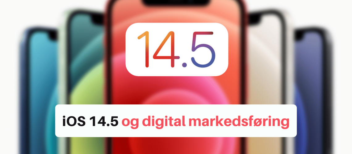Bildeillustrasjon iOS 14.5 med teskten